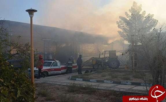 باشگاه خبرنگاران - آتش سوزی در شهرک صنعتی بیرجند