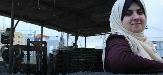 اختراع افتخار آمیز دختر فلسطینی برای بازسازی غزه+تصاویر