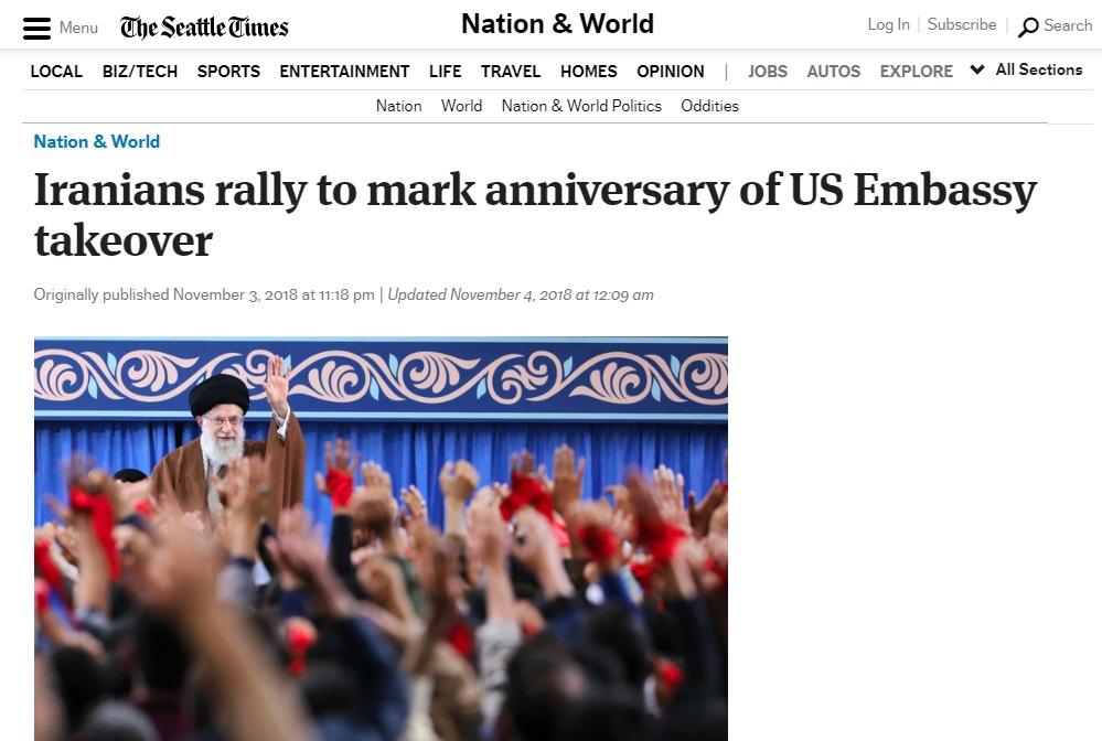 بازتاب حضور گسترده مردمی در راهپیمایی ۱۳ آبان در رسانههای خارجی