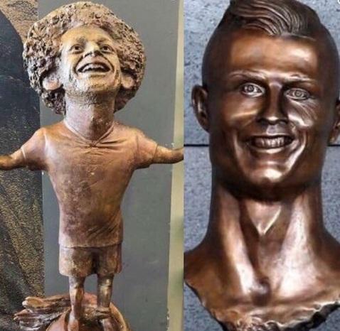 مجسمههای عجیب و غریب ستارههای فوتبال دنیا