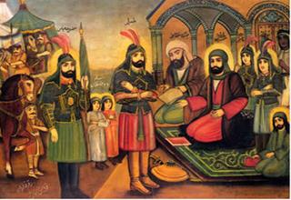 راز انتخاب رنگهای سبز و قرمز در نقاشی لباس امامان حسن و حسین (ع) چیست؟