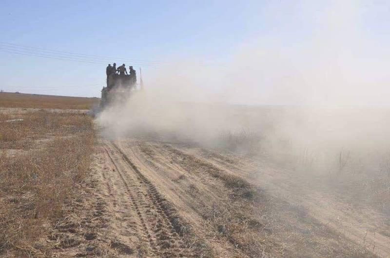 نبرد قریب الوقوع شبه نظامیان کرد با داعش در شرق فرات/