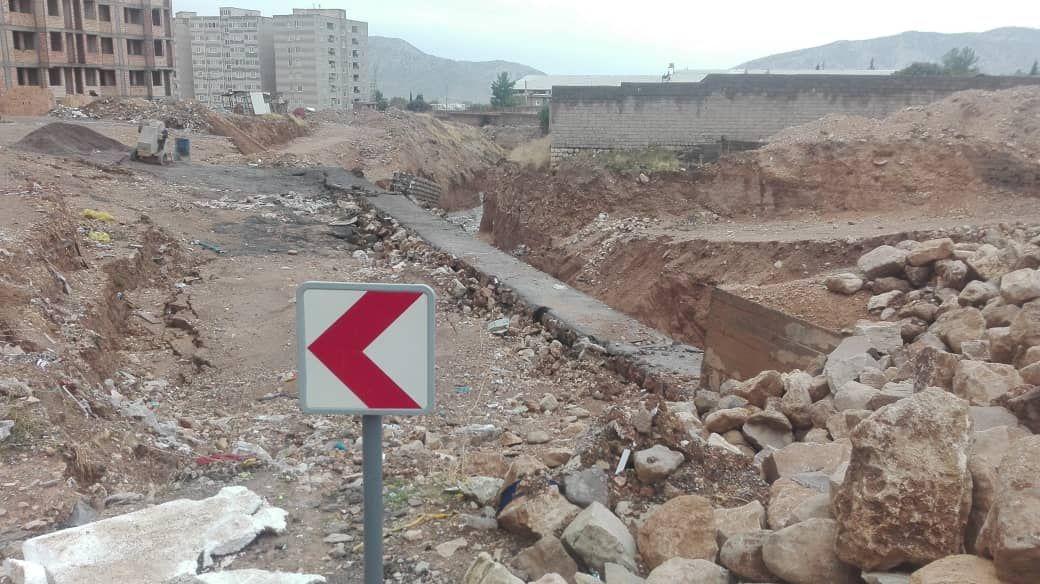 رانش زمین در محله خرمرودی شهر ایلام