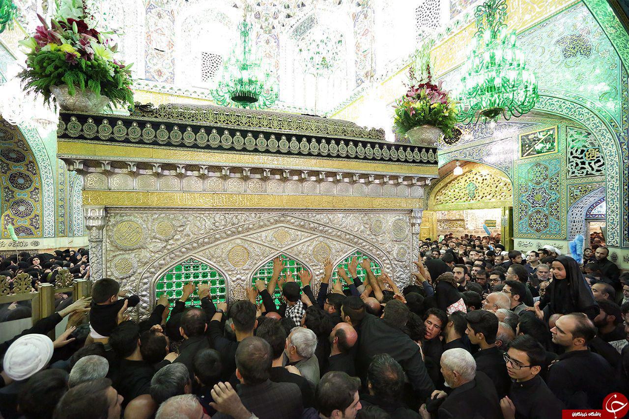 حال و هوای زائران در حرم مطهر امام رضا (ع) + عکس