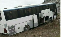 ۳ مصدوم در برخورد اتوبوس با کوه در قزوین
