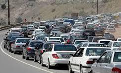 ترافیک سنگین در جاده مشهد - تهران محدوده استان سمنان