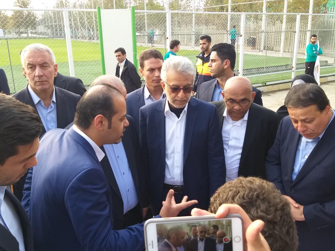 مراسم افتتاح عملیات احداث ساختمان فدراسیون فوتبال برگزار شد