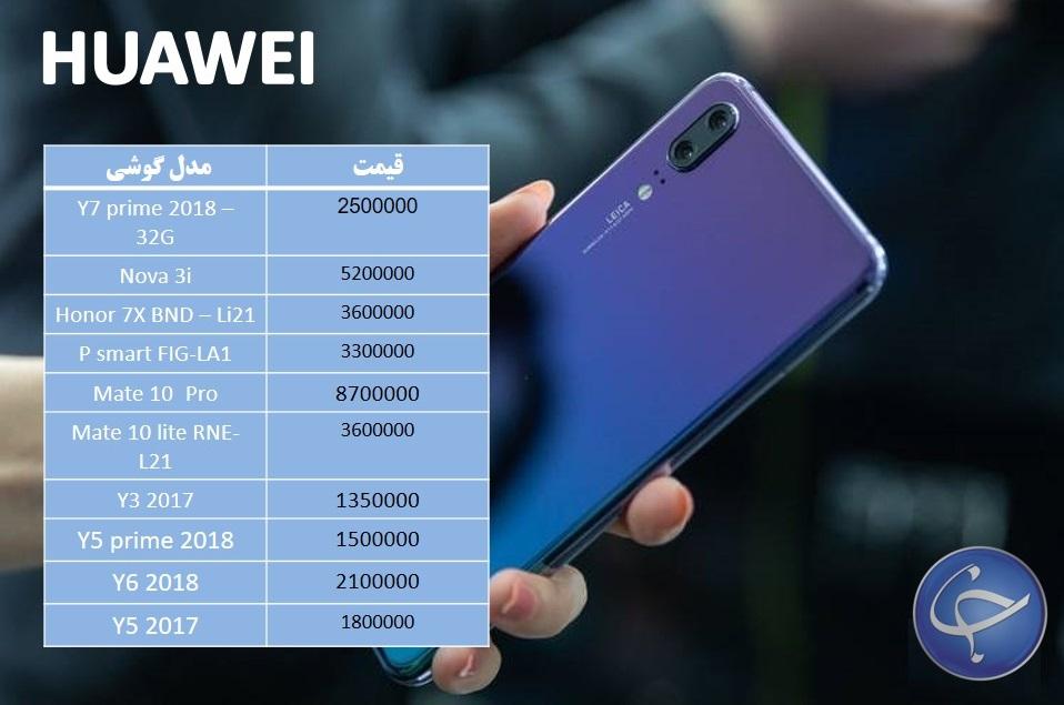 آخرین قیمت تلفن همراه در بازار (بروزرسانی ۱۹ آبان) +جدول