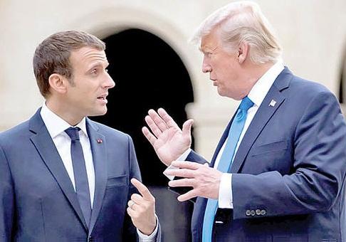 ترامپ: سخنان مکرون درباره ارتش اروپا بسیار توهین آمیز است