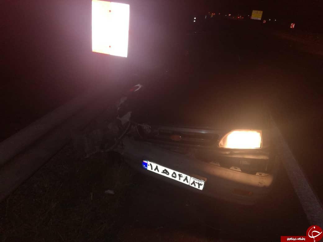 تصادف زنجیرهای در جاده جهرم/۸ تن زخمی شدند