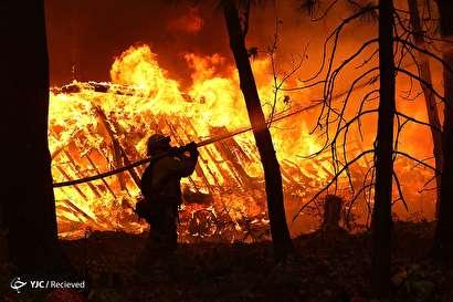 آتش سوزی گسترده در کالیفرنیا - آمریکا