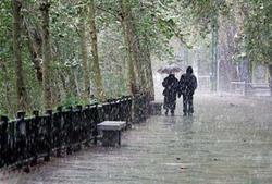 بارش برف و باران در استان زنجان