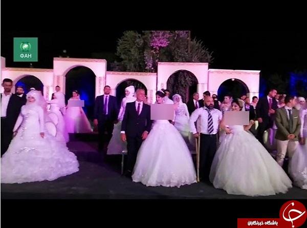 جشن ازدواج سربازان سوری+تصاویر