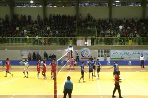پیروزی مقتدارنه والیبالیستهای استان مرکزی در خانه