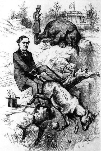 چه کسی دموکراتها را «خر» و جمهوریخواهها را «فیل» کرد؟