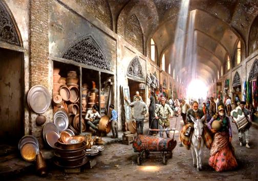 بازار قدیمی مهاباد و پویایی کسب و کار در آن