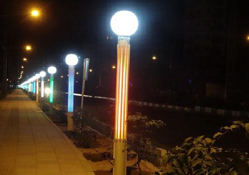 کاهش هزینه مصرف برق معابر و پارک های مازندران با استفاده از چراغ های ال ای دی