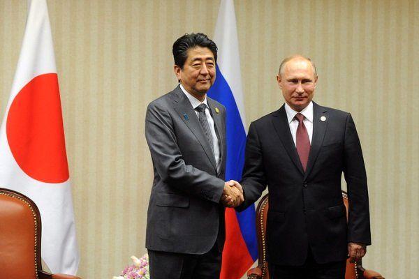 نخست وزیر ژاپن در پی امضای توافقنامه صلح با روسیه است