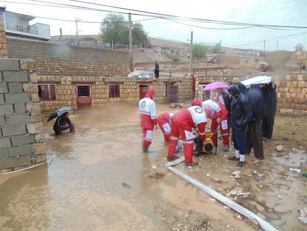 امدادرسانی به بیش از ۳ هزار نفر در مناطق متأثر از سیل و آبگرفتگی