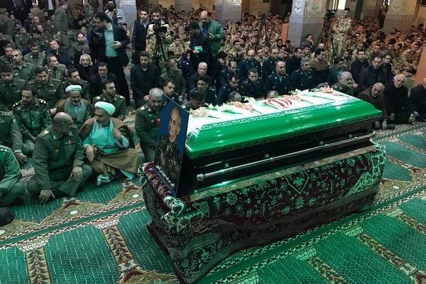 تشییع پیکر امیر «سیروس لطفی» در ستاد نیروی زمینی ارتش