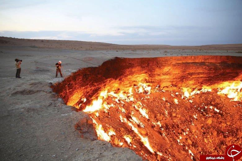 یک حفره بزرگ به نام دروازه جهنم یا دروازه دوزخ