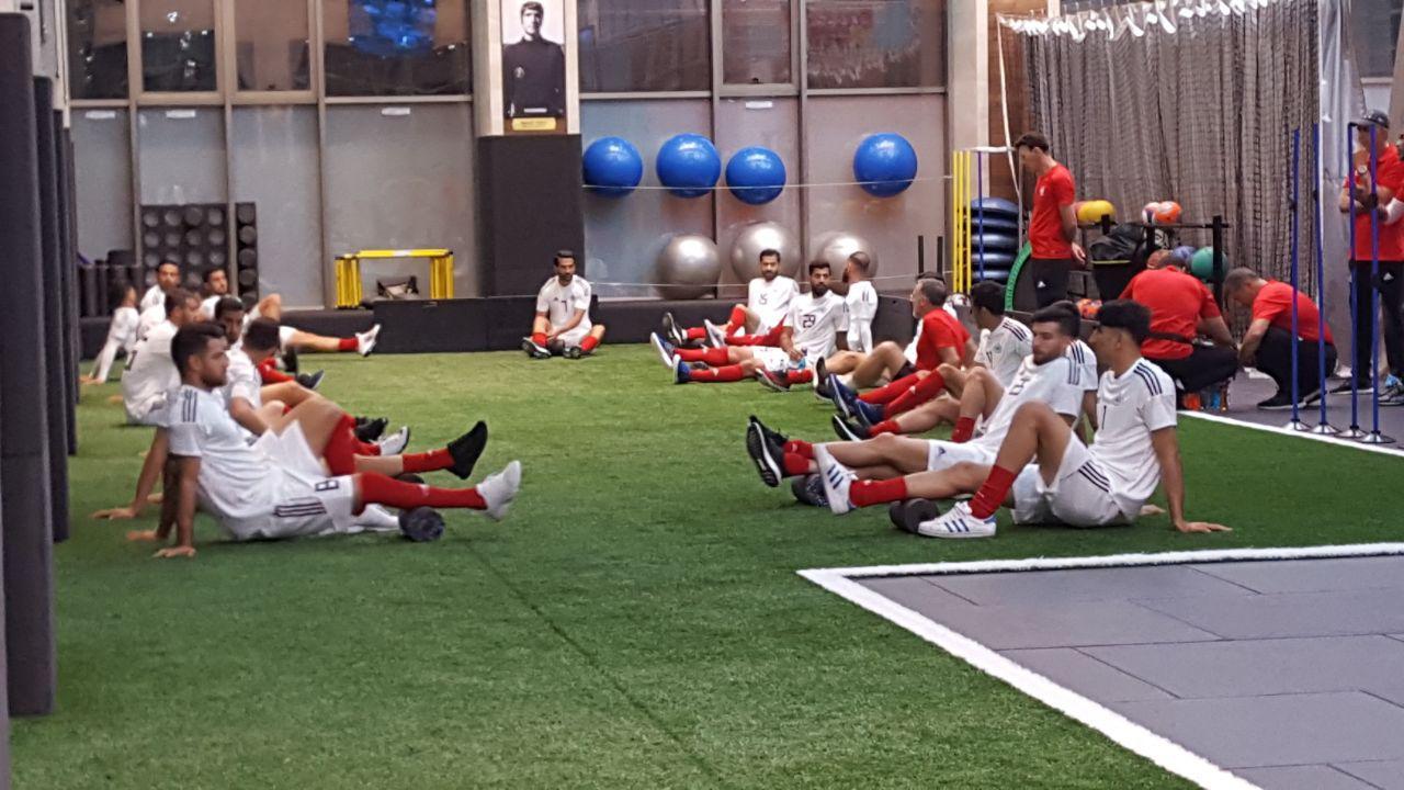 نخستین تمرین تیم ملی با حضور کارلوس کی روش