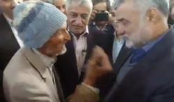 برخورد قابل تامل پیرمرد طبسی با وزیر جهاد کشاورزی +فیلم