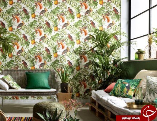 ۴۹ طرح زیبای کاغذ دیواری برای پذیرایی 2018 +تصاویر