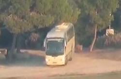 لحظه اصابت دقیق موشک مقاومت به اتوبوس حامل نظامیان رژیم صهیونیستی + فیلم