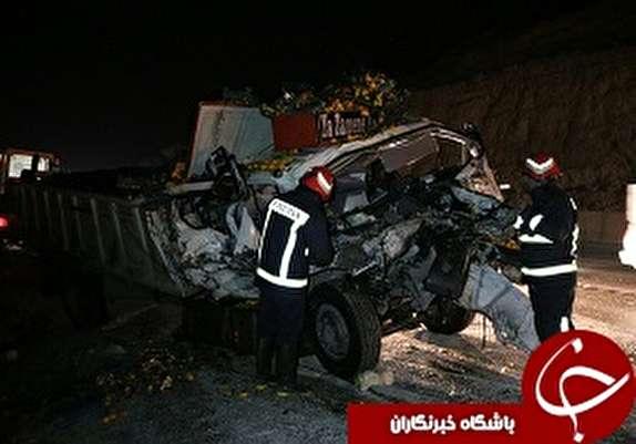 باشگاه خبرنگاران - مصدومیت یک نفر بر اثر برخورد دو دستگاه کامیون در آزادراه خرم آباد پل زال