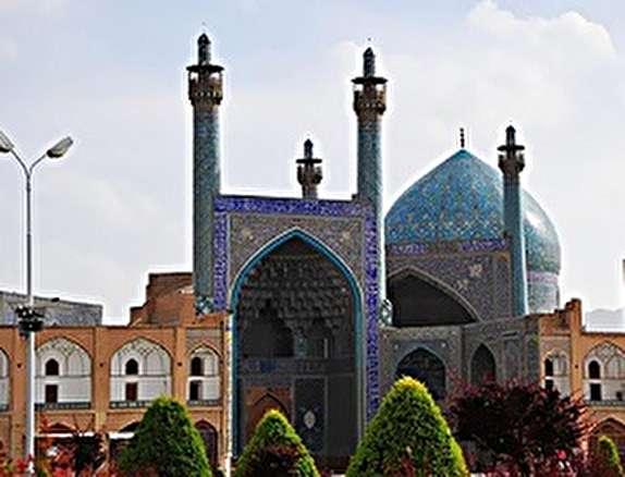 باشگاه خبرنگاران - پایان عملیات مرمت ایوان گنبد خانه مسجد تاریخی امام اصفهان