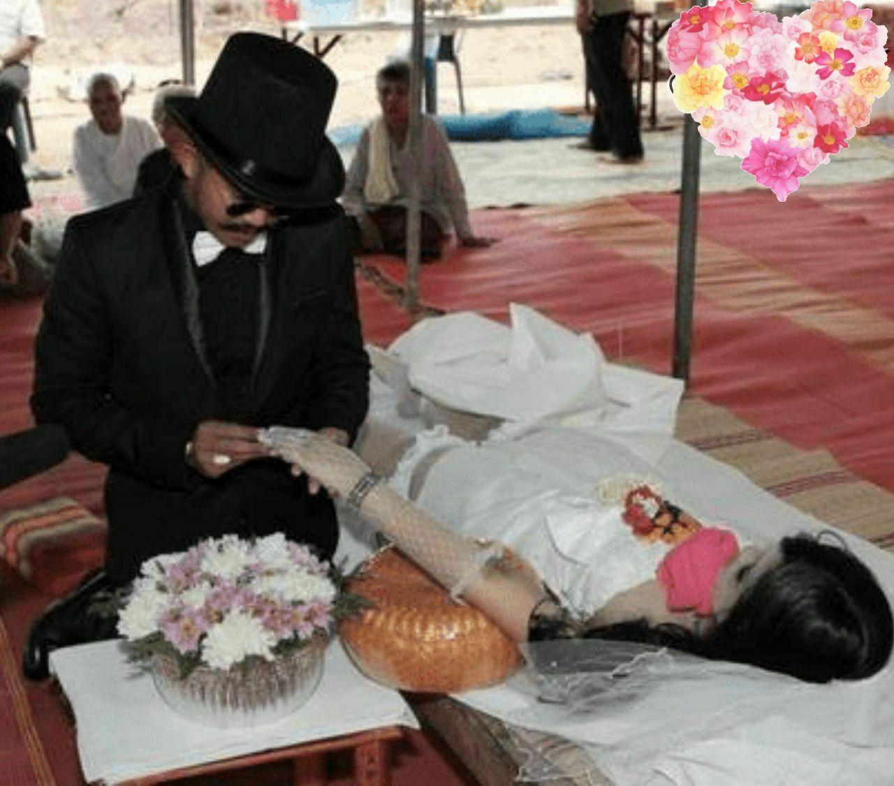 ازدواج عجیب مرد جوان با نامزد مرده خود+ عکس