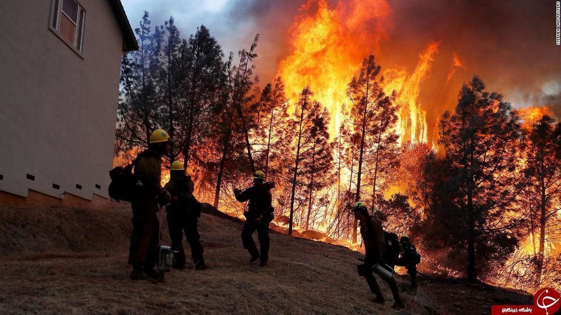 سلبرتی معروف آمریکایی دست به دامن آتشنشان خصوصی شد! + فیلم//