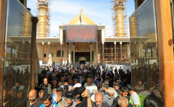 تصاویری از حضور پر شور زائران در سامرا در آستانه شهادت امام حسن عسگری(ع)