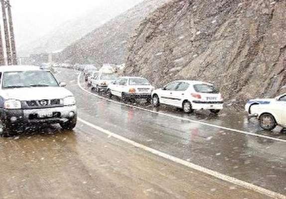 باشگاه خبرنگاران - بارش برف در گردنههای استان قزوین