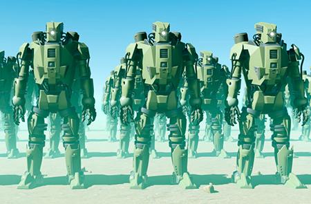 رباتی که در جنگ حافظ جان سربازان میشود +تصویر