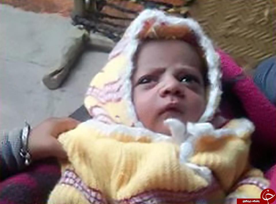 مرگ نوزاد 12 روزه در اثر غفلت مادر! + تصاویر//