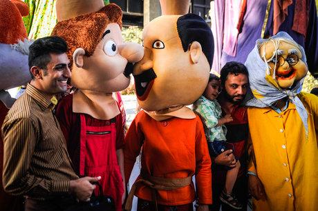 باشگاه خبرنگاران -شادپیمایی عروسکها در سرپل ذهاب و ثلاث باباجانی