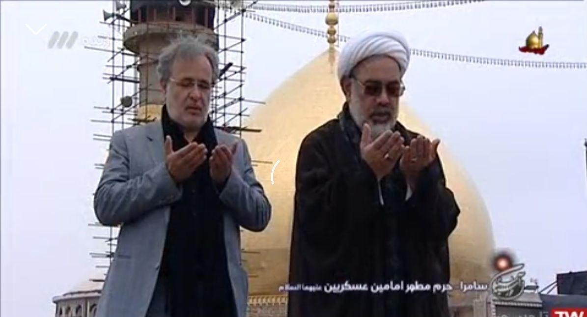 اقامه نماز جماعت در برنامه زنده تلویزیونی + فیلم