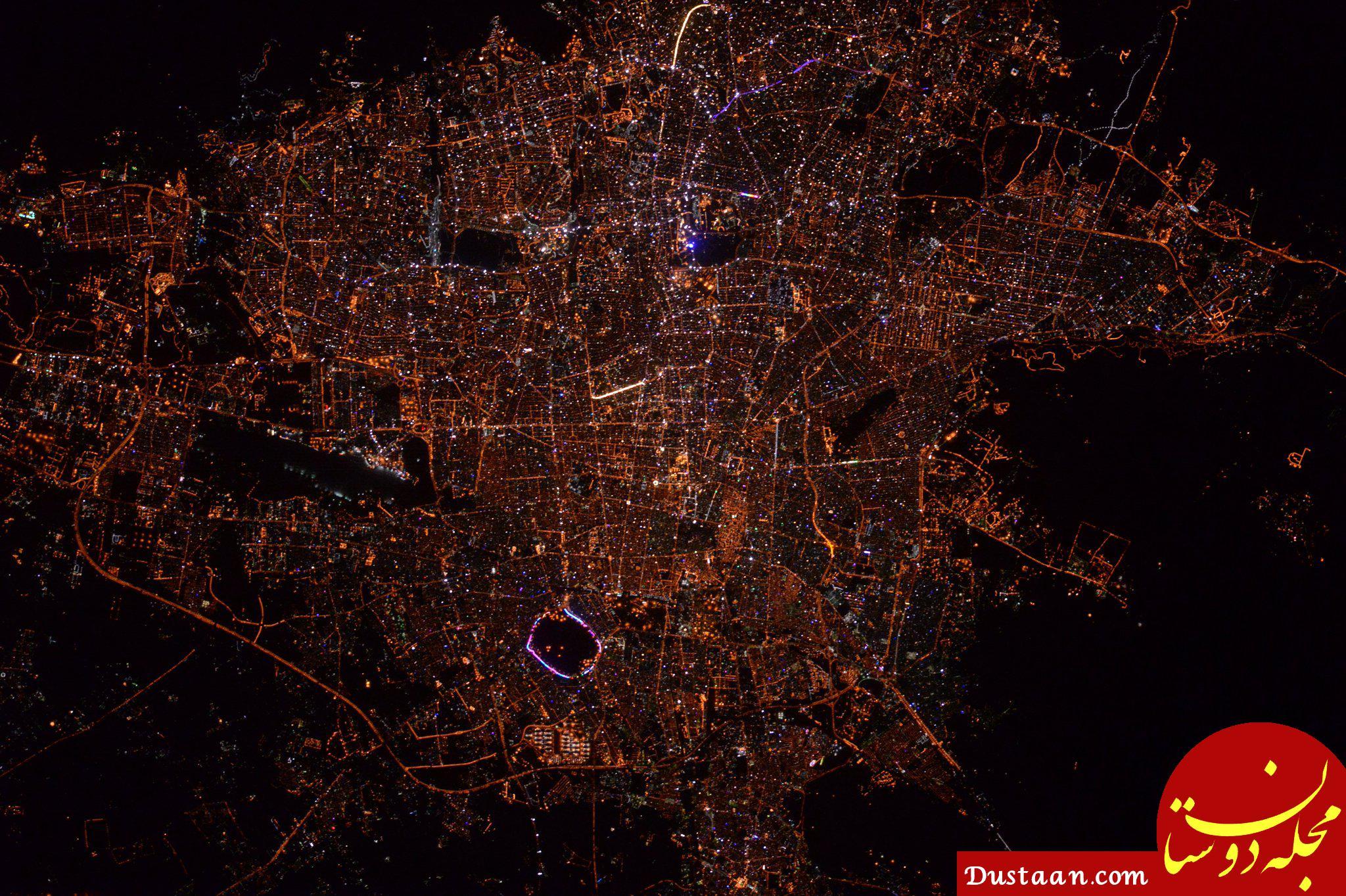 تهران از ایستگاه فضایی بینالمللی! +عکس
