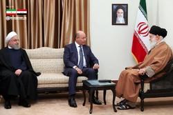دیدار رئیس جمهور عراق با رهبر معظم انقلاب