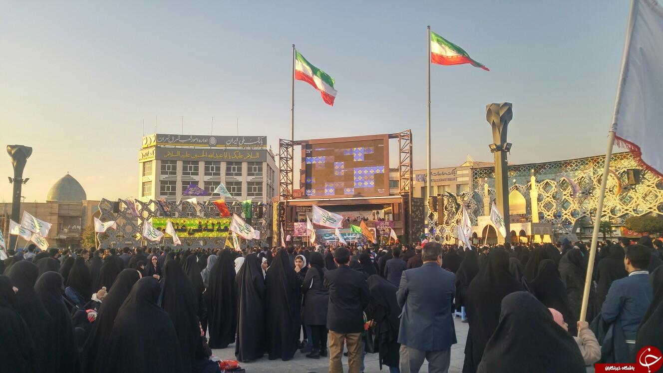 تجدید میثاق مردم تهران با امام زمان (عج) + تصاویر