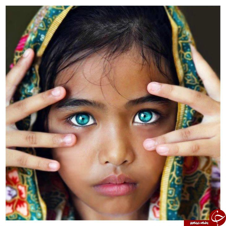 انتشار تصاویری از زیباترین کودکان چشم رنگی در فضای مجازی