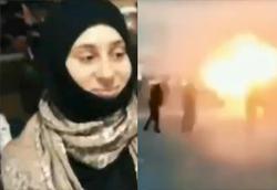 عملیات انتحاری زن تروریست مقابل پاسگاه پلیس +فیلم