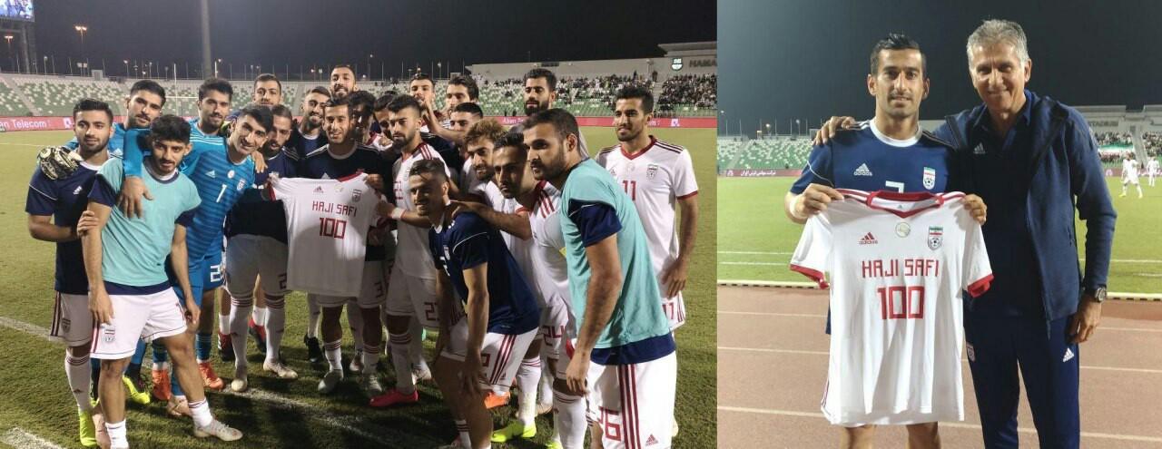 عکس یادگاری حاجصفی با سرمربی تیم ملی فوتبال ایران/ مجید حسینی مصدوم شد