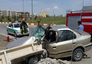 دو فوتی در سانحه رانندگی