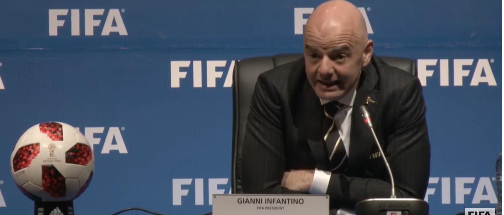 رئیس فیفا درصدد مالیات بر درآمد 3 رقابت بین المللی