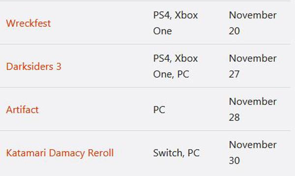 ماه نوامبر چه بازیهایی منتشر خواهد شد؟