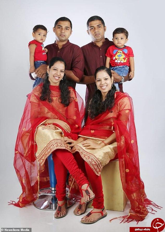 اردواج جالب دوقلوهای همسان هندی با یکدیگر + تصاویر
