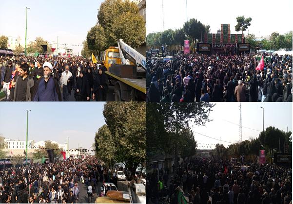 آغاز مراسم راهپیمایی جاماندگان اربعین در تهران/ ندای لبیک یا حسین طنین انداز شد+ تصاویر و فیلم